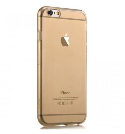 Cover for Iphone 6-Super Slim 0,5mm TPU Crystal Champagne