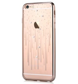 Cover Crystal Meteor per iPhone 6S/6 Colore Champagne Gold