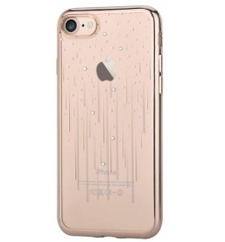 Cover Soft Crystal Meteor Swarovsky iPhone 7 Plus Cham. Gold
