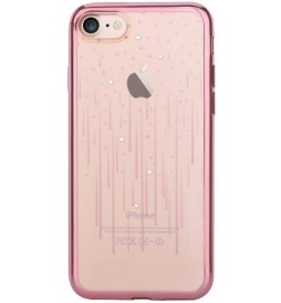 Cover Soft Crystal Meteor Swarovsky iPhone 7 Plus Rose Gold