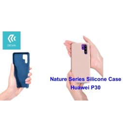 Cover Nature in Silicone per Huawei P30 flessibile Rosa